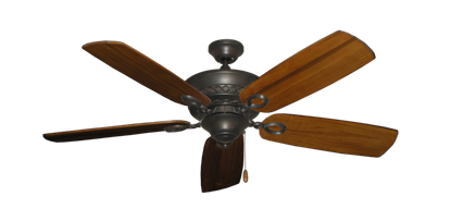 """Picture of Infinity Oil Rubbed Bronze with 52"""" Series 710 Arbor Oak Blades"""