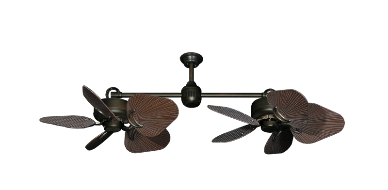 "Picture of Twin Star III Oil Rubbed Bronze with 35"" Leaf Oil Rubbed Bronze Blades"