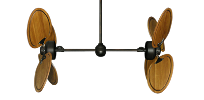 "Picture of Twin Star III Oil Rubbed Bronze with 50"" Series 950 Arbor Oak Blades"