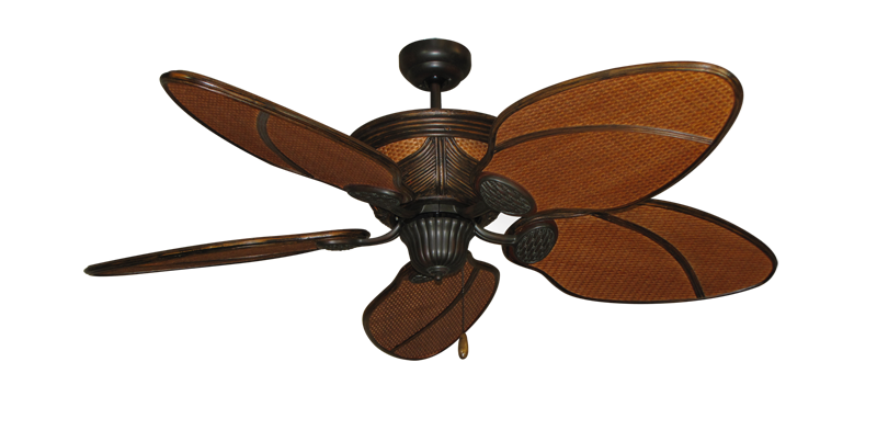 "Picture of 52"" Moroccan Ceiling Fan in Oil Rubbed Bronze"