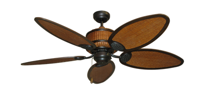 "Picture of 52"" Cane Isle Ceiling Fan in Oil Rubbed Bronze"