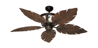 "52"" Venetian Lighted Ceiling Fan in Oil Rubbed Bronze"