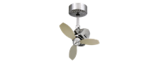 Mustang 18 in. Oscillating Indoor/Outdoor Brushed Aluminum Ceiling Fan
