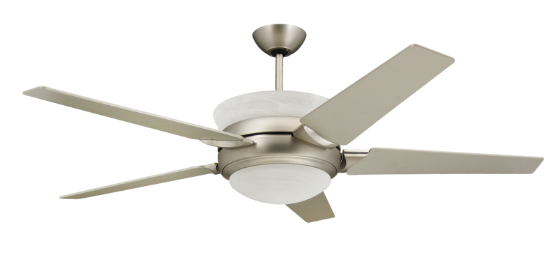 Satin Steel Uplight Ceiling Fan