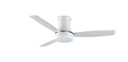 "Picture of Modernaire 52"" Pure White Ceiling Fan and Light"