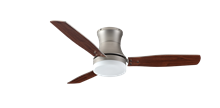 "Picture of Modernaire 52"" Satin Steel Ceiling Fan and Light"