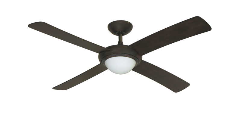 "Picture of 52"" Luna Indoor Outdoor Ceiling Fan and Light in Oil Rubbed Bronze with Remote Control"