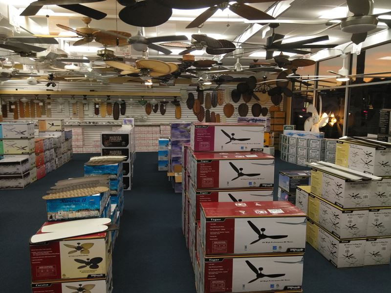 Ft. Lauderdale Ceiling Fan Store Interior