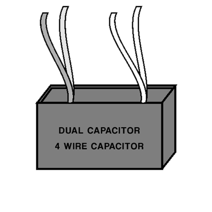Picture of Dual Capacitor - Four Wire