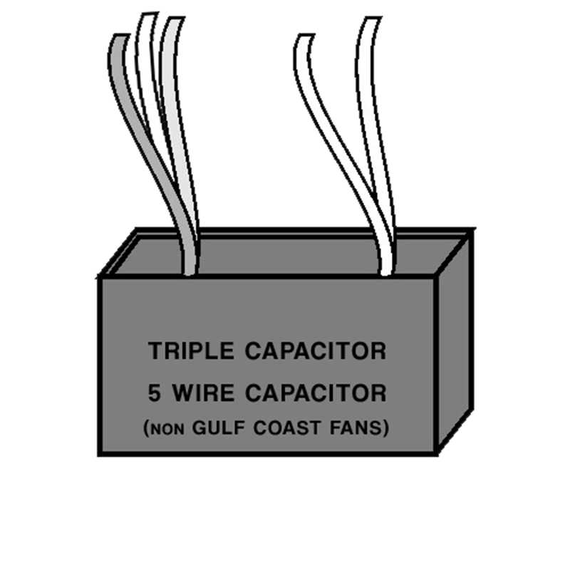 Picture of Triple Capacitor - Five Wire - non Gulf Coast Fans