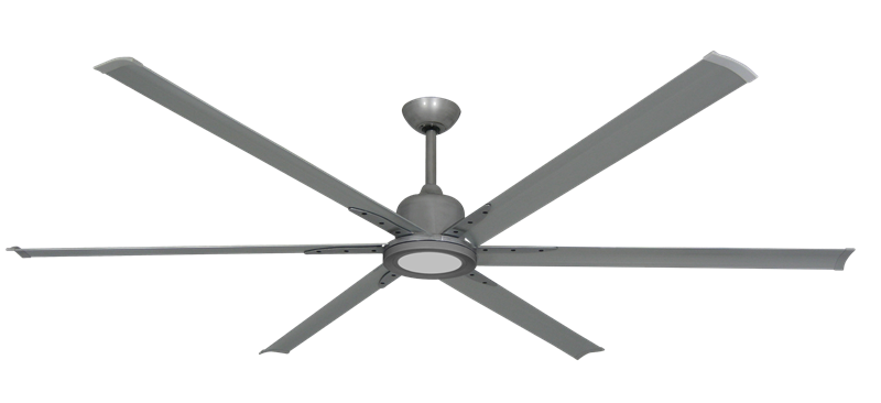 """Titan II Brushed Nickel with 84"""" Aluminum Brushed Nickel Blades with 18W LED Array Light and Remote"""