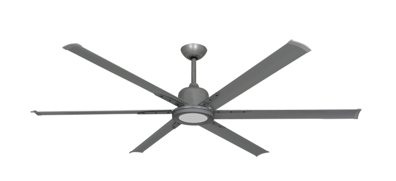 """Picture of Titan II Brushed Nickel with 72"""" Aluminum Brushed Nickel Blades with 18W LED Array Light and Remote"""