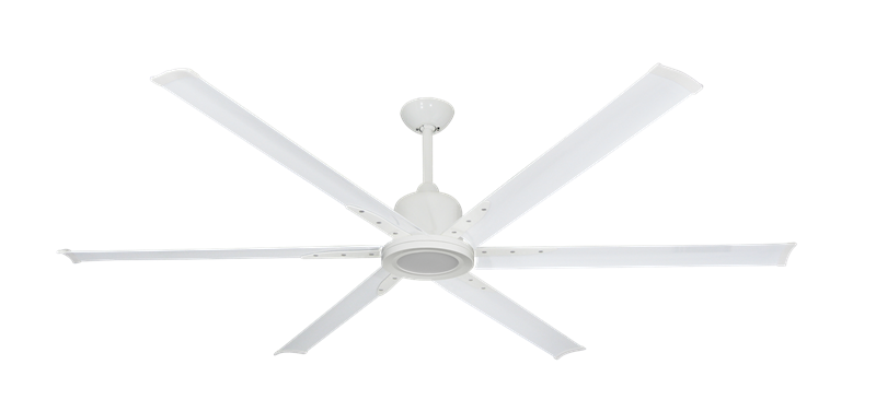 """Picture of Titan II Pure White with 72"""" Aluminum Pure White Blades with 18W LED Array Light and Remote"""