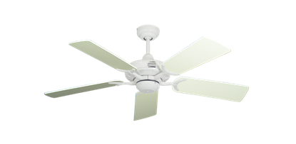 """Picture of Coastal Air Pure White with 44"""" Antique White Blades"""