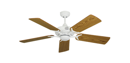 """Picture of Coastal Air Pure White with 44"""" Oak Blades"""