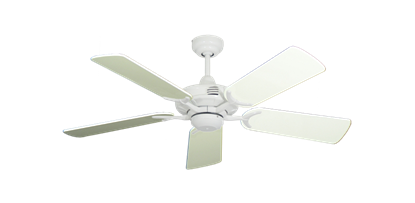 """Picture of Coastal Air Pure White with 44"""" Antique White Gloss Blades"""
