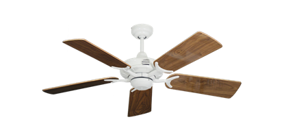 """Picture of Coastal Air Pure White with 44"""" Walnut Gloss Blades"""