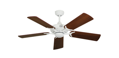 """Picture of Coastal Air Pure White with 44"""" Walnut Blades"""