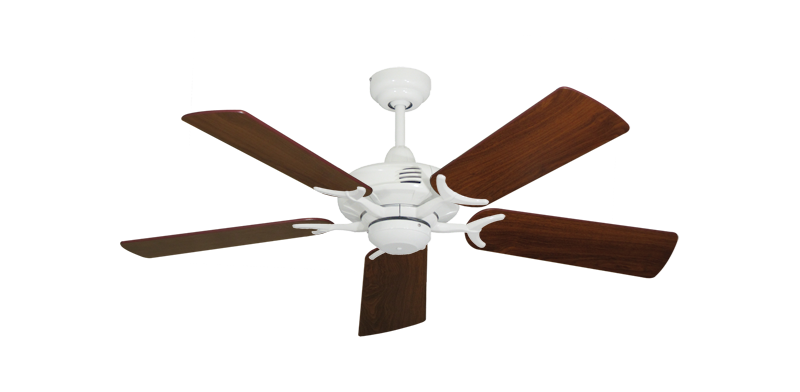 "Picture of Coastal Air Pure White with 44"" Walnut Blades"