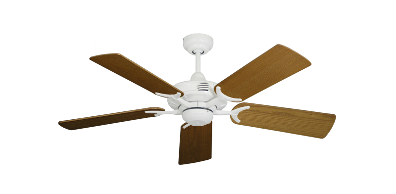 """Picture of Coastal Air Pure White with 44"""" Light Oak Blades"""