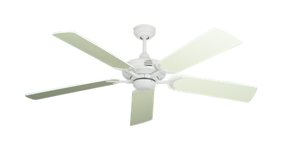 """Picture of Coastal Air Pure White with 52"""" Antique White Blades"""
