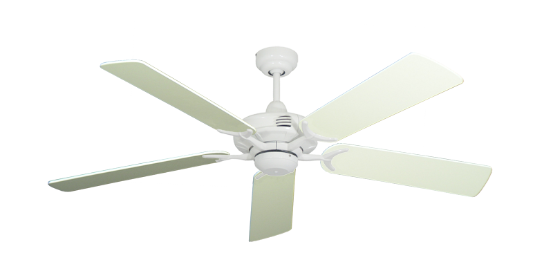 "Picture of Coastal Air Pure White with 52"" Antique White Blades"