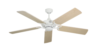 """Picture of Coastal Air Pure White with 52"""" Bleached Oak Blades"""