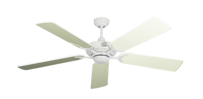 """Picture of Coastal Air Pure White with 52"""" Antique White Gloss Blades"""