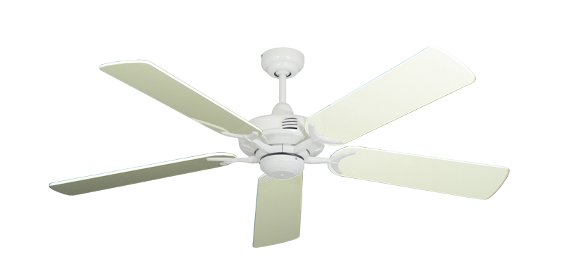 "Picture of Coastal Air Pure White with 52"" Antique White Gloss Blades"