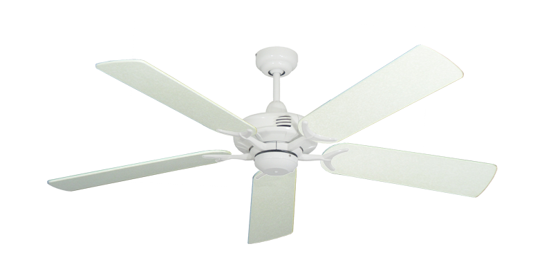 """Picture of Coastal Air Pure White with 52"""" Navajo White Blades"""