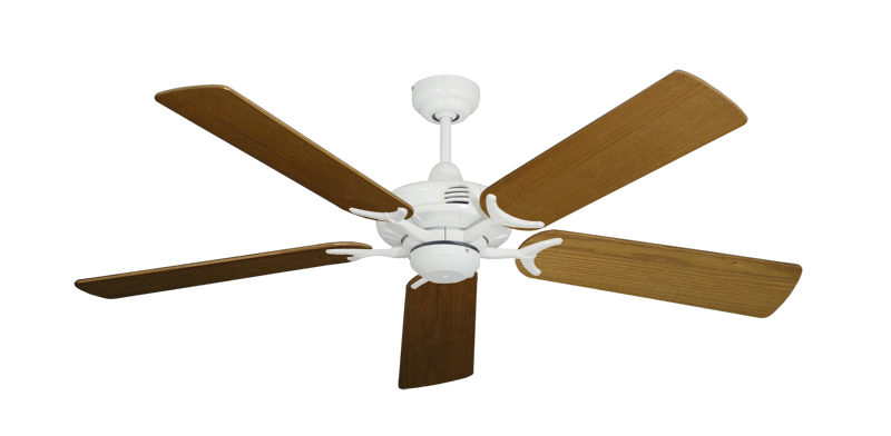 """Picture of Coastal Air Pure White with 52"""" Light Oak Blades"""