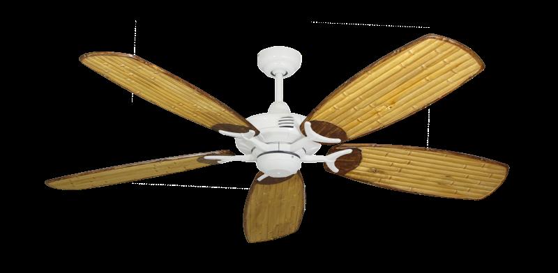 "Coastal Air Pure White with 52"" Series 275 Arbor Bamboo Blades"