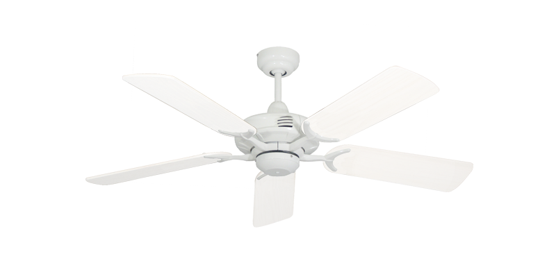 """Picture of Coastal Air Pure White with 44"""" Outdoor Pure White Blades"""