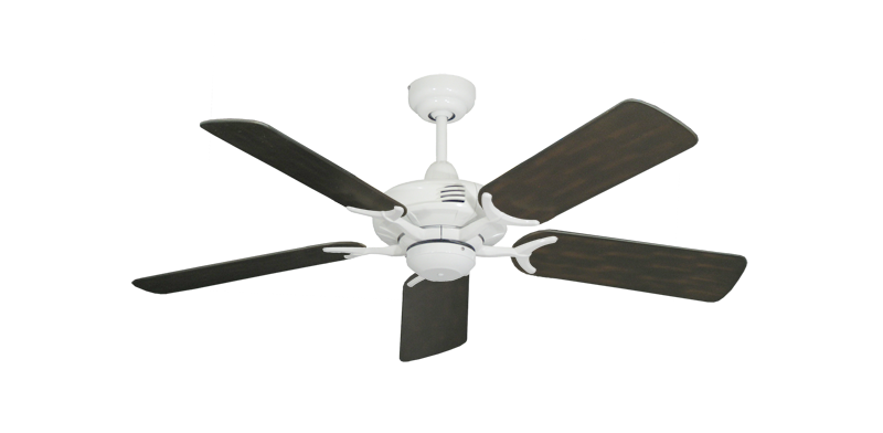 "Coastal Air Pure White with 44"" Outdoor Oil Rubbed Bronze Blades"