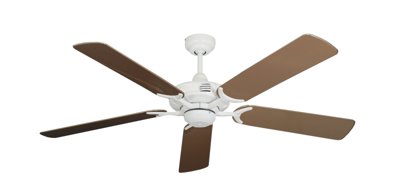 """Coastal Air Pure White with 52"""" Outdoor Brown Blades"""