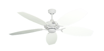 "Picture of Coastal Air Pure White with 52"" Outdoor Oar Pure White Blades"