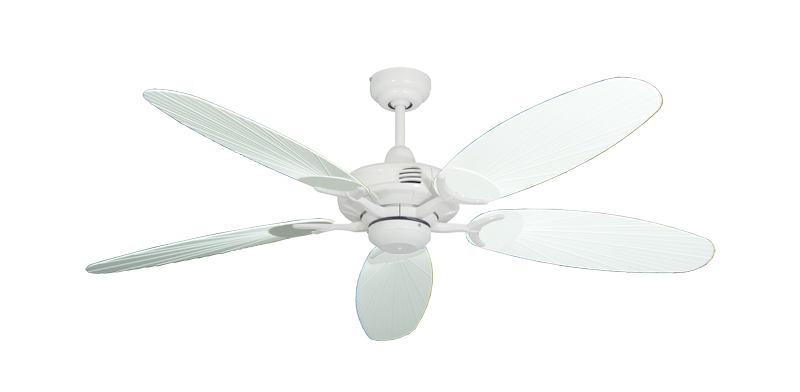 """Picture of Coastal Air Pure White with 52"""" Outdoor Leaf Pure White Blades"""
