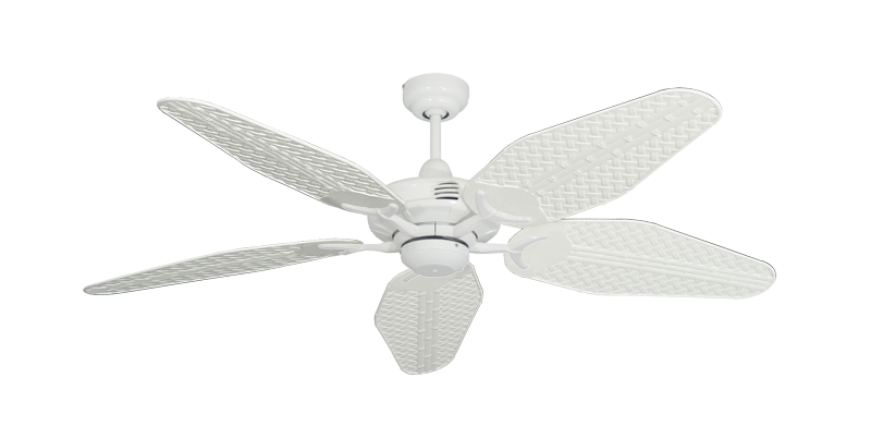 "Picture of Coastal Air Pure White with 52"" Outdoor Weave Pure White Blades"