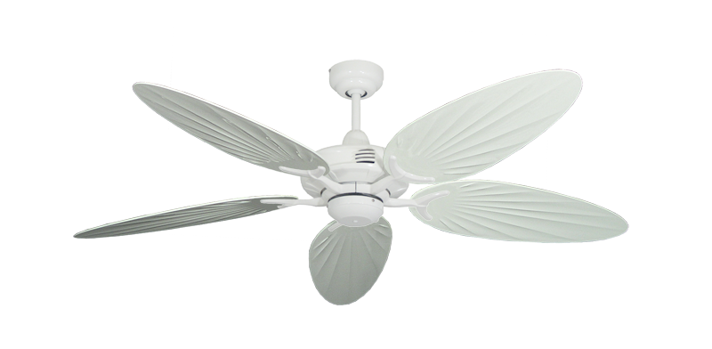 "Picture of Coastal Air Pure White with 52"" Outdoor Palm Pure White Blades"
