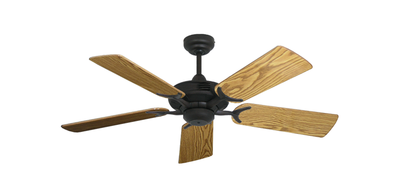 """Picture of Coastal Air Oil Rubbed Bronze with 44"""" Oak Gloss Blades"""