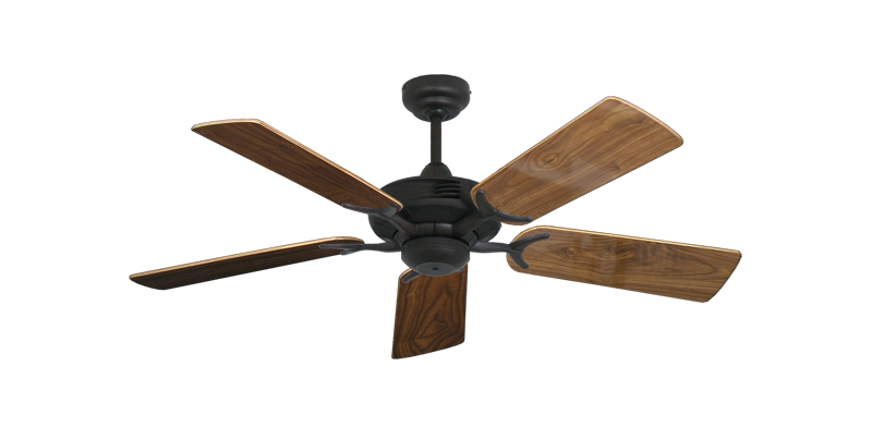 """Picture of Coastal Air Oil Rubbed Bronze with 44"""" Walnut Gloss Blades"""