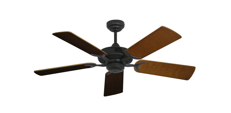 """Picture of Coastal Air Oil Rubbed Bronze with 44"""" Natural Cherry Blades"""