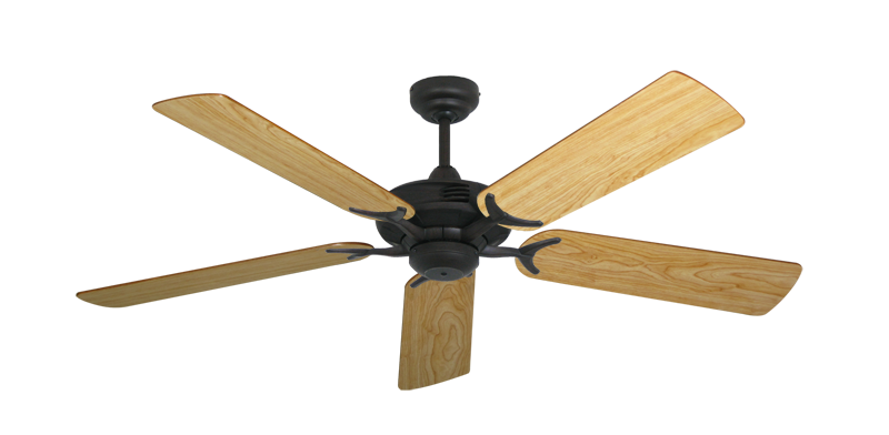 "Picture of Coastal Air Oil Rubbed Bronze with 52"" Maple Blades"