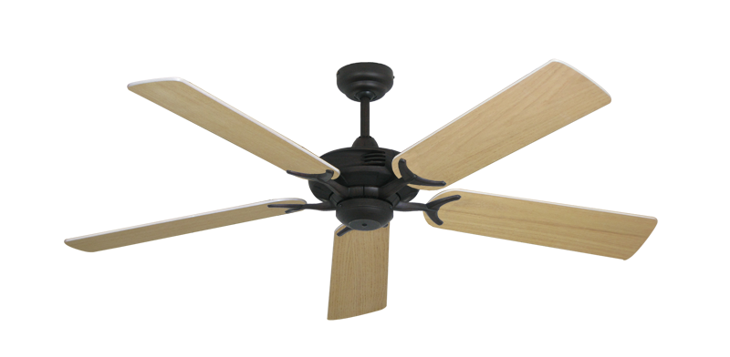 "Picture of Coastal Air Oil Rubbed Bronze with 52"" Unfinished Oak Blades"