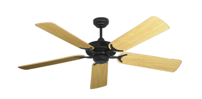"Picture of Coastal Air Oil Rubbed Bronze with 52"" Honey Oak Gloss Blades"