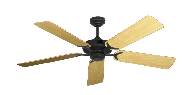 """Picture of Coastal Air Oil Rubbed Bronze with 52"""" Honey Oak Gloss Blades"""