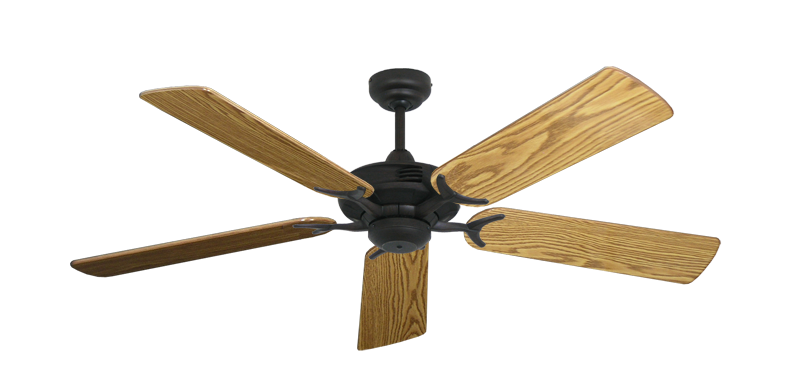 """Picture of Coastal Air Oil Rubbed Bronze with 52"""" Oak Gloss Blades"""