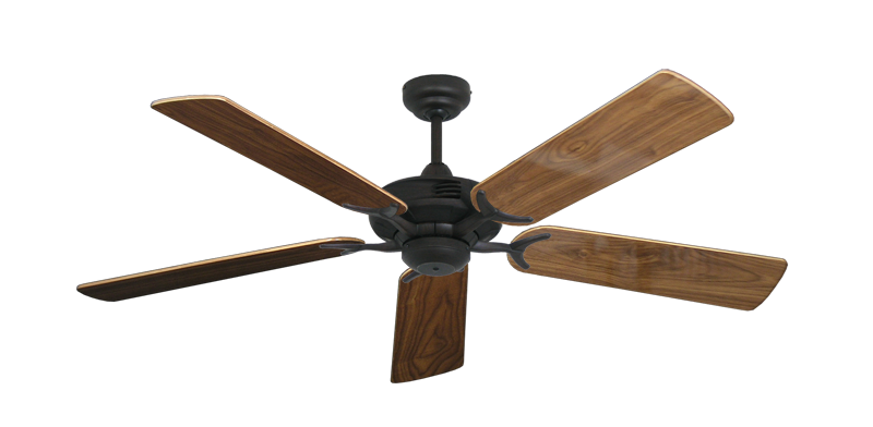 "Picture of Coastal Air Oil Rubbed Bronze with 52"" Walnut Gloss Blades"