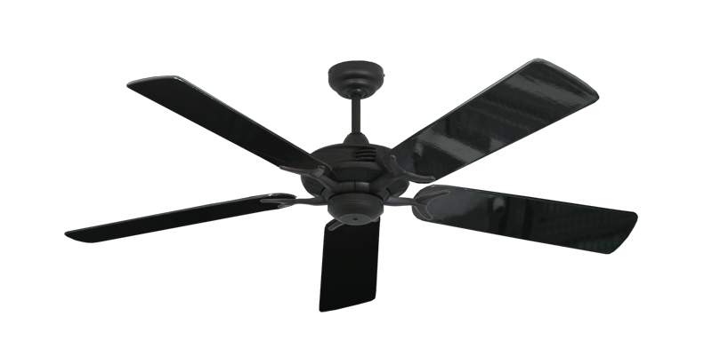 """Coastal Air Oil Rubbed Bronze with 52"""" Black Gloss Blades"""