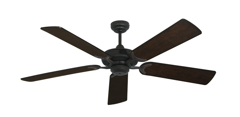 """Picture of Coastal Air Oil Rubbed Bronze with 52"""" Distressed Walnut Blades"""